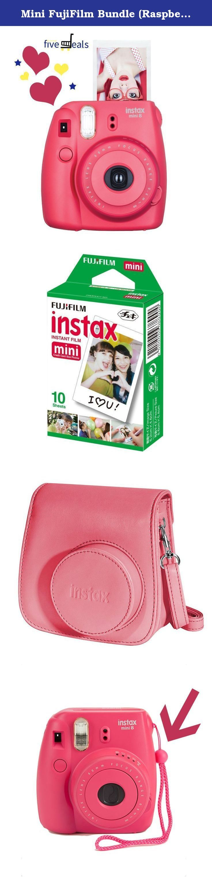 Mini FujiFilm Bundle (Raspberry). GET THE SPECIAL GIRL IN YOUR LIFE THE PERFECT GIFT WITH THIS 3-IN-1 FUJIFILM CAMERA, CASE AND FILM SET! THE PINK FUJIFILM INSTAX MINI 8 INSTANT FILM CAMERA Cute to boot in this pretty pink color this FujfiFilm instant camera is made for that special girl in your life! It's very slim and easy to grip so she won't have problems in holding it as she snaps away at capturing her happiest moments! With its slim design she can easily fit this camera into her bag…