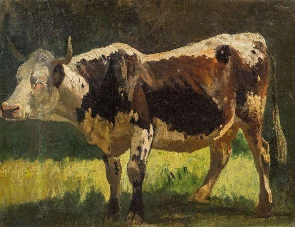 Joseph Wenglein - Rind auf der Weide 1868