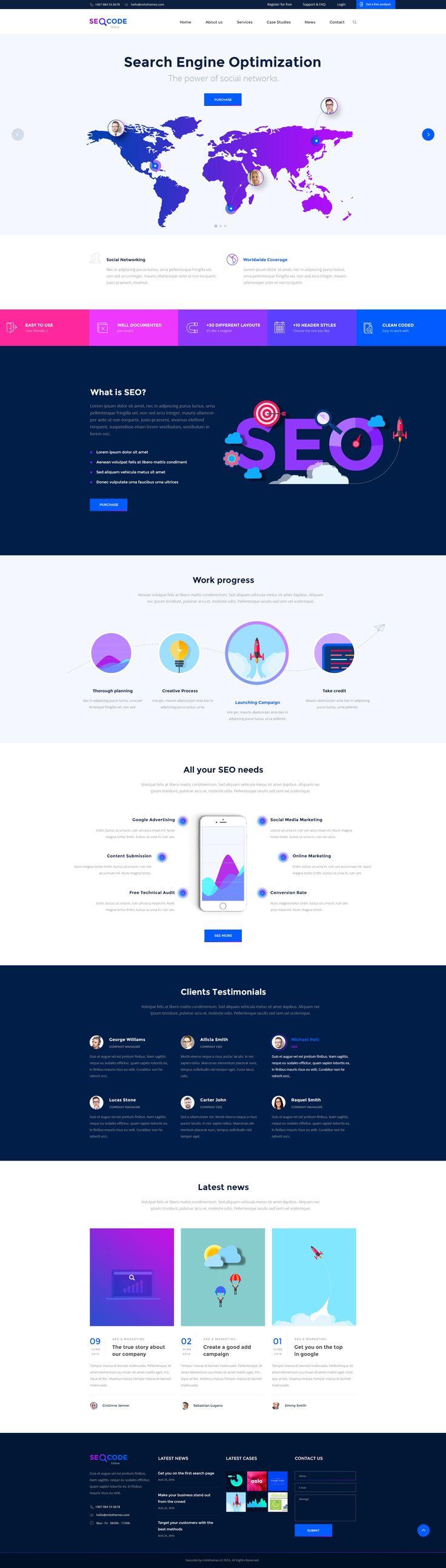 SeoCode - The Ultimate SEO & Online Marketing PSD Template Design