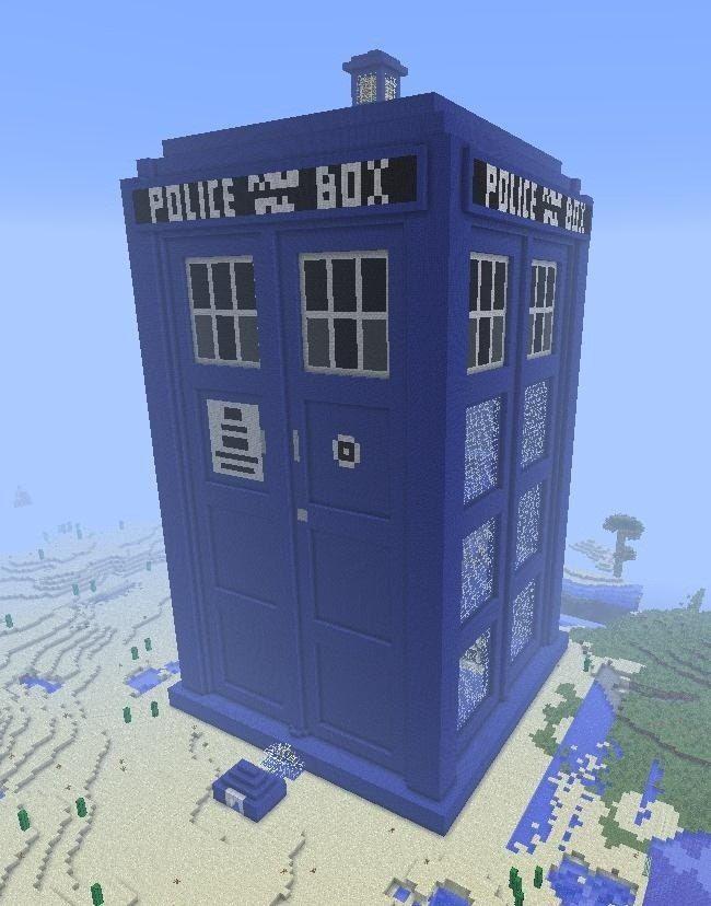 The TARDIS House--a House Built for Creative Mode « Minecraft