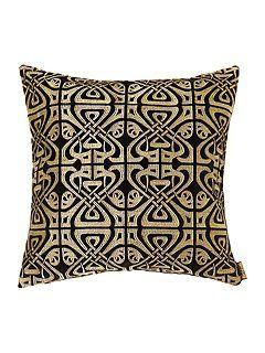 Black velvet Biba design cushion