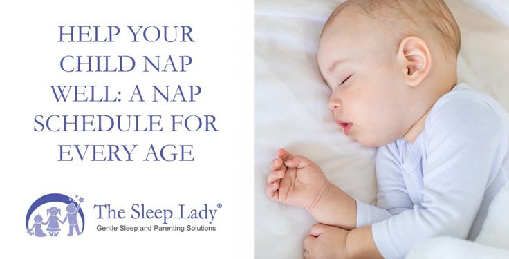 Help Your Child Nap Well: A Nap Schedule for Every Age [sleeplady.com] Help Your Child Nap Well: A Nap Schedule for Every Age Parents often wonder when their baby will settle into a perfectnap schedule. This can feel quite elusive when you have a newborn but knowing what to expect based on your babys age and development can help. Its important to set realistic expectations and to understand nap basics and how to transition your child from two naps to one and then to a quiet time. I advise…