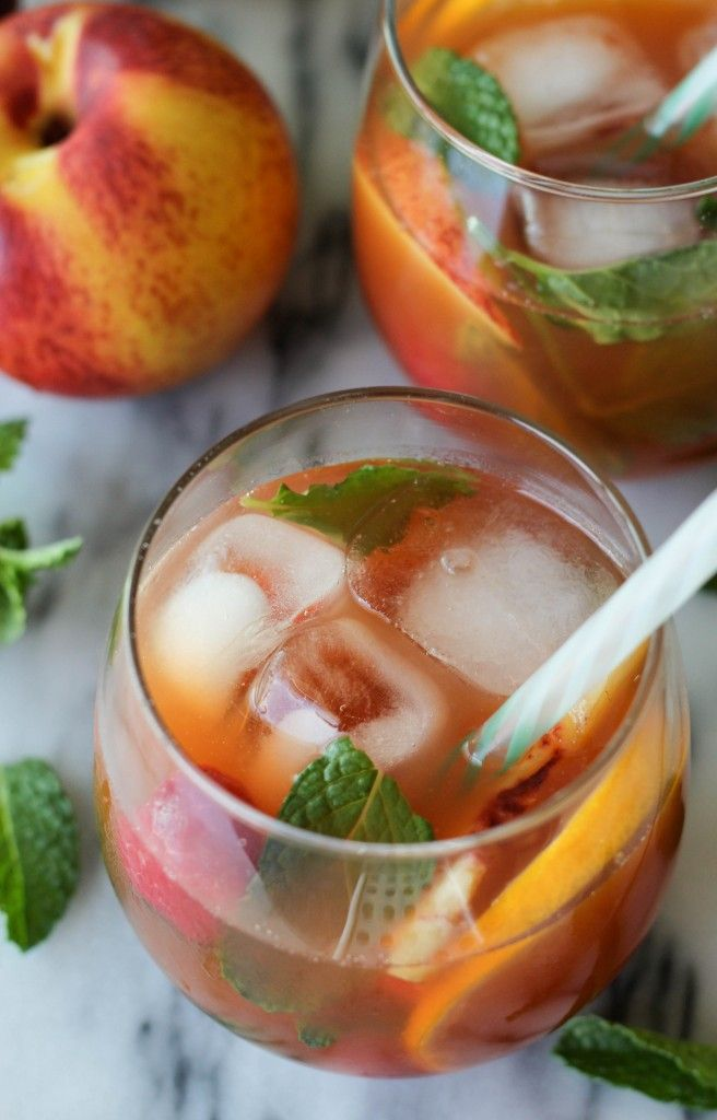 Raspberry Peach Iced Tea - This lightly sweetened iced tea is wonderfully fruity and so refreshing!