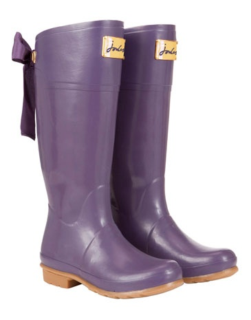 """Tom Joules """"Evedon"""" Womens Rain Boots! These are the purple version of the red ones that are floating around pinterest."""