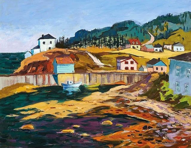 HENRI LEOPOLD MASSON,  PETITE VALLÉE, GASPÉSIE, 1978,  oil on canvas,  22 ins x 28 ins; 66 cms x 56.5 cms