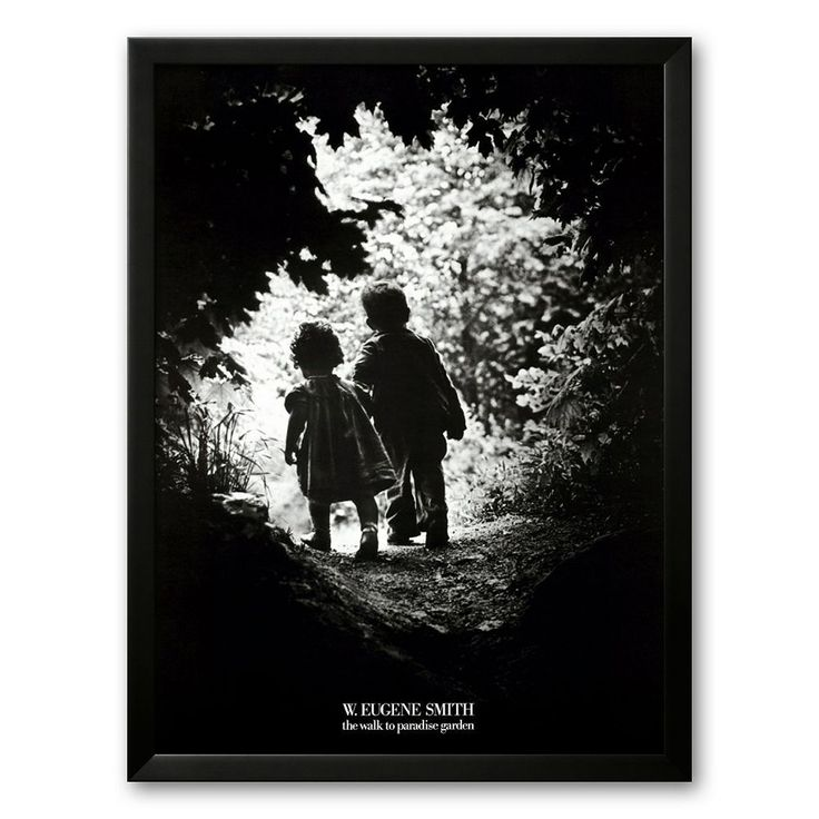 Art Com Quot Walk To Paradise Garden Quot Framed Art Print By W Eugene Smith Eugene Smith Black