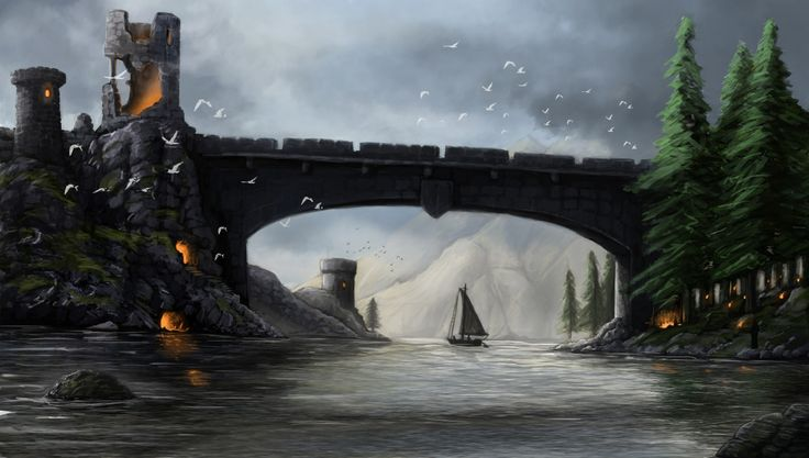 Bridge, Janos Csernik on ArtStation at https://www.artstation.com/artwork/gwqbK