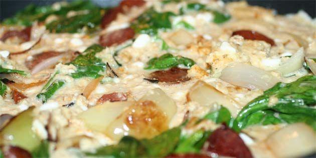 Omelet med havregryn