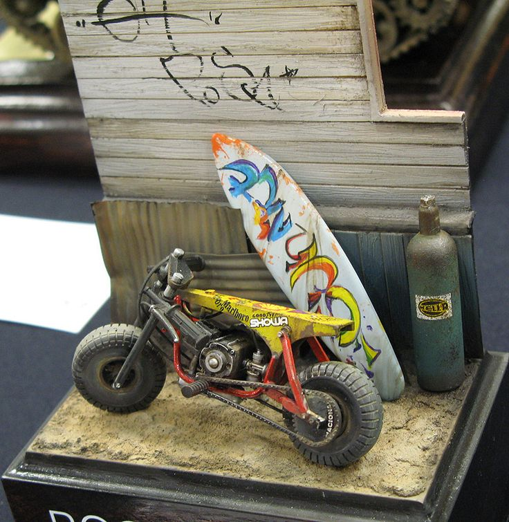 """Pocket Bike"" 1/24 scale,  by Chulho Yoo. #motorcycle #surfing"