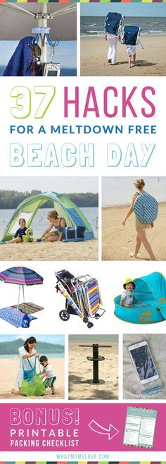 Beach Hacks, Tips and Tricks   The best clever ideas to keep kids happy at the beach this summer. Good tips for families with babies, toddlers and teens.