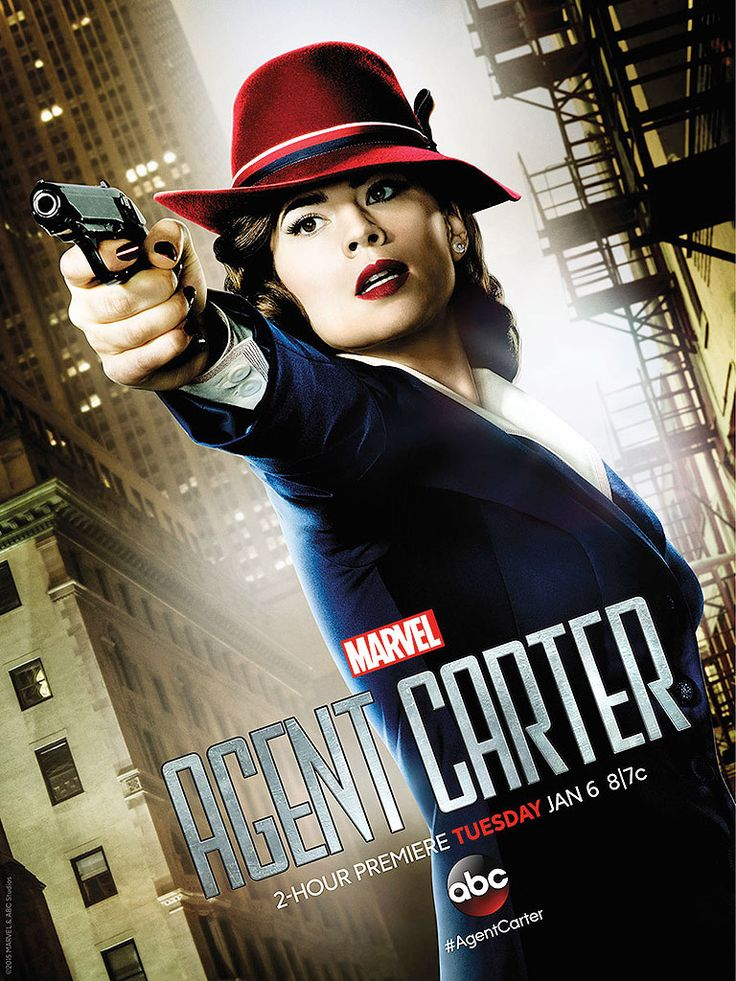 Agent Carter - In 1946, Peggy Carter is relegated to secretarial duties in the Strategic Scientific Reserve (SSR). When Howard Stark is accused of treason, he secretly recruits Peggy to clear his name with the help of his butler, Edwin Jarvis.