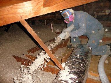 cellulose fiber ceiling insulation