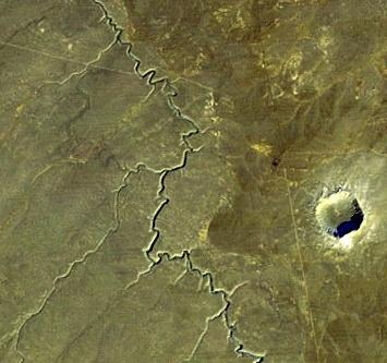 Meteor crater, Arizona