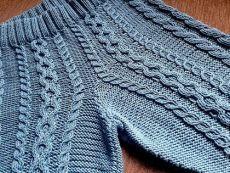 Купить Шорты с аранами - комбинированный, Шорты вязаные, шорты зимние, араны, косы, необычно, мода