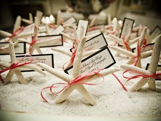 Starfish Wedding Reception party Favors gifts, or tabletop decor, beach theme, nautical shells, add tags, labels; Upcycle, Recycle, Salvage, diy, thrift, flea, repurpose! For vintage ideas and goods shop at Estate ReSale & ReDesign, Bonita Springs, FL