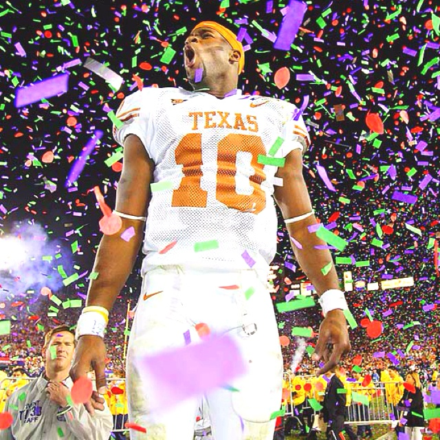 Vince Young after winning the 2005 Rose Bowl, becoming the National Champions :)