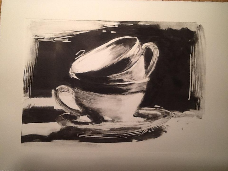 Hagit Shahal. Cups, Monotype