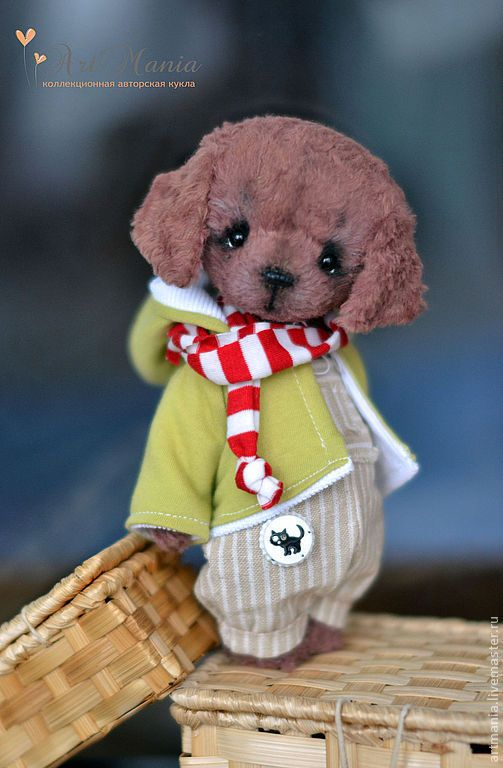 Мишки Тедди ручной работы. Ярмарка Мастеров - ручная работа. Купить Боби. Handmade. Коричневый, вискоза италия, лён