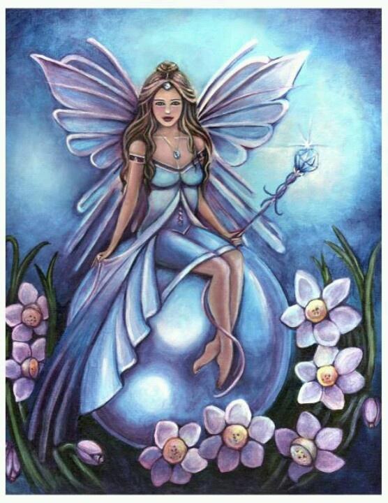 Birthstone fairy March aquamarine