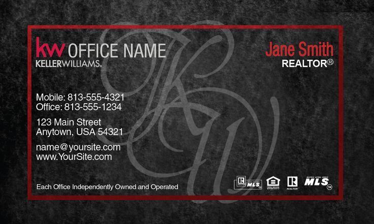 17 Best Images About Keller Williams Business Cards On Pinterest