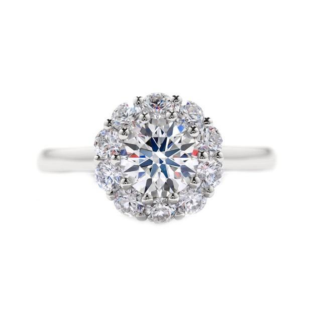 Round-diamond engagement ring