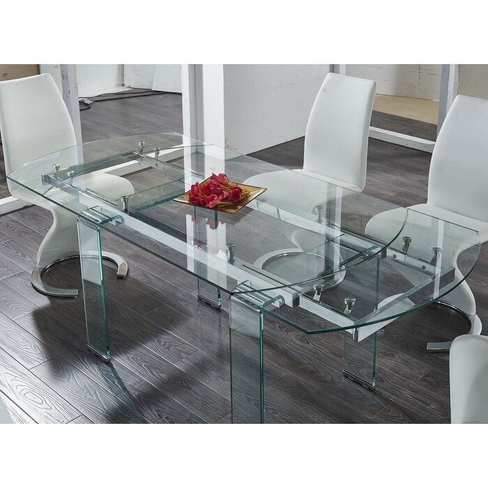 Wilcox Extendable Dining Table Glass Dining Room Table Dining Table Extendable Dining Table