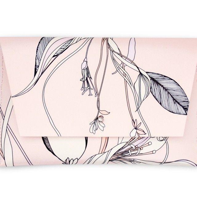 "Yatzer x Qrator/ Melissa Crowley/ ""Leaves & Feathers"" iPad Mini Sleeve"