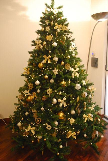 albero di natale decorazioni bianco oro - Cerca con Google