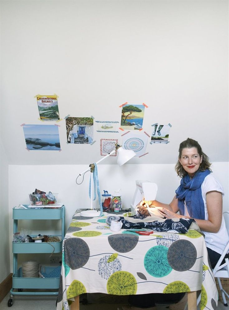 This is where all the crafting happens! Me in Ikea magazine :) www.hestershandmadehome.com