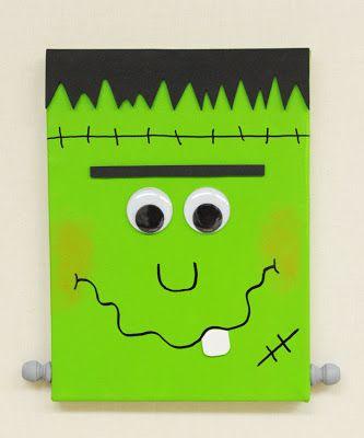 D.I.Y. Frankenstein Canvas #Halloween