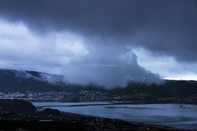 Cloud looms over Porirua Harbour | © Elyse Childs Photography