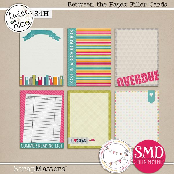 Freebies: Between the Pages journal and filler cards