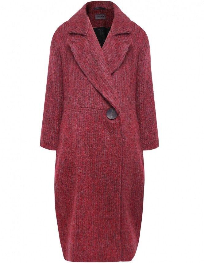 Oska Purple Debrorah Long Mohair Coat