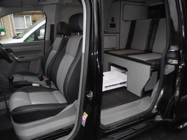 Vw Swb Caddy Interior Camper Conversion Camper Van Day Van