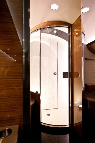 ... jet trip vip cabin crew training luxury jet standing shower forward