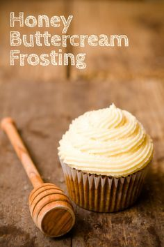 Honey Buttercream Frosting Recipe ~ The Secret to Perfect Honey Buttercream Frosting...  sour cream!  Sour cream thickens the frosting without adding extra powdered sugar, cuts the sweetness, and adds a tangy zing.