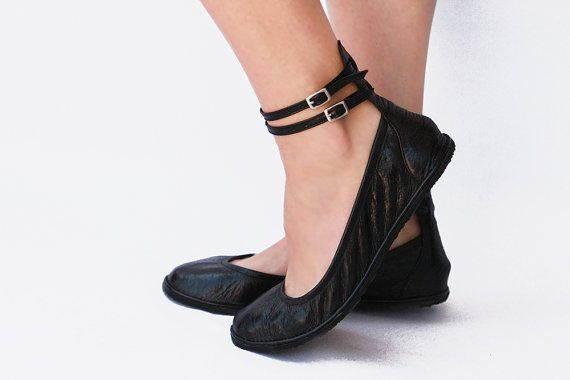 Ballet flats Handmade Leather ballerinas by TheDrifterLeather
