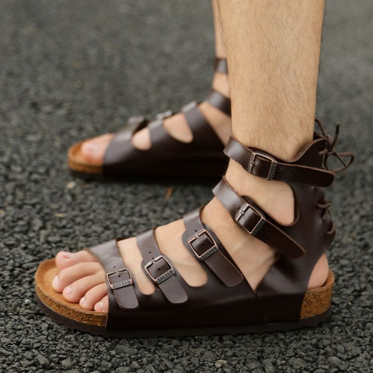 Men Gladiator Sandals,Beach Sandals                              …