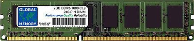2GB DDR3 1600MHz PC3-12800 240-PIN DIMM MEMORY RAM FOR DESKTOPS/PCs