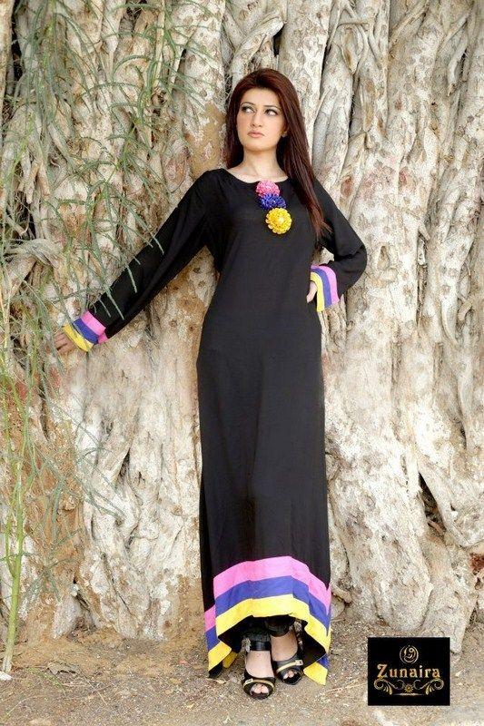 Zunaira Lounge Summer Dresses 2013 For Women 0012