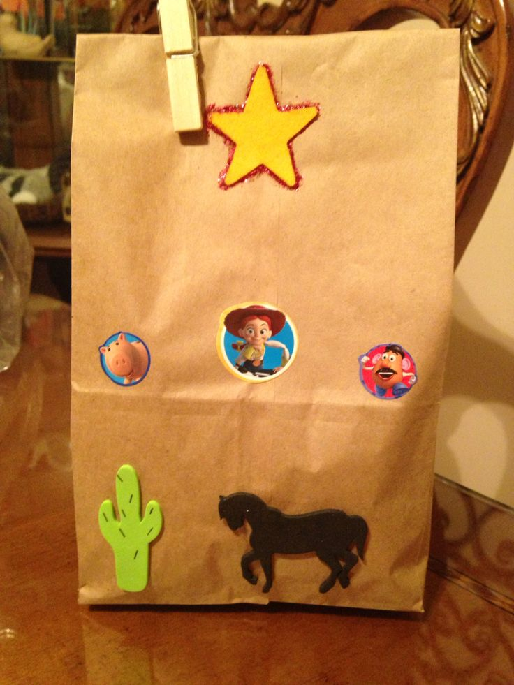 Party Bags  Toy Story Theme Party 2nd Birthday Party