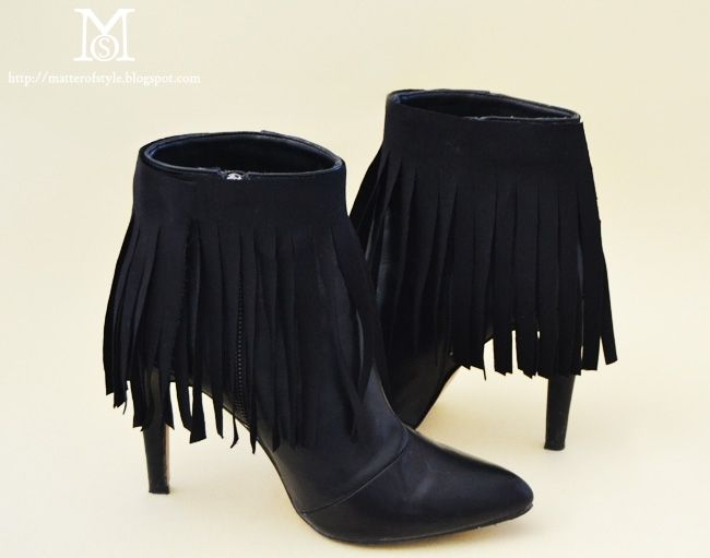 Ботильоны с бахромой (DIY) / Обувь / Модный сайт о стильной переделке одежды и интерьера