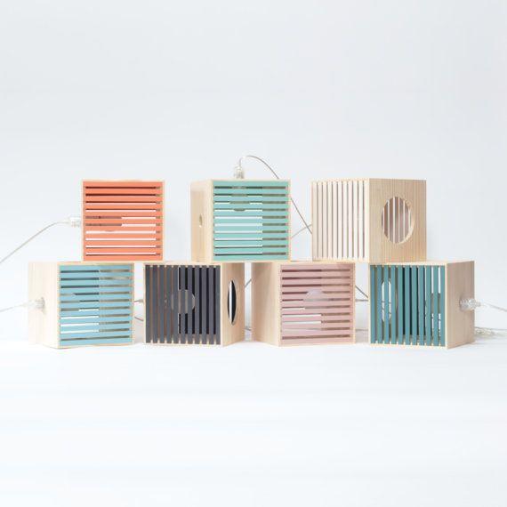 Boutique Etsy Hurlu - Lampe Baladeuse en bois recyclé