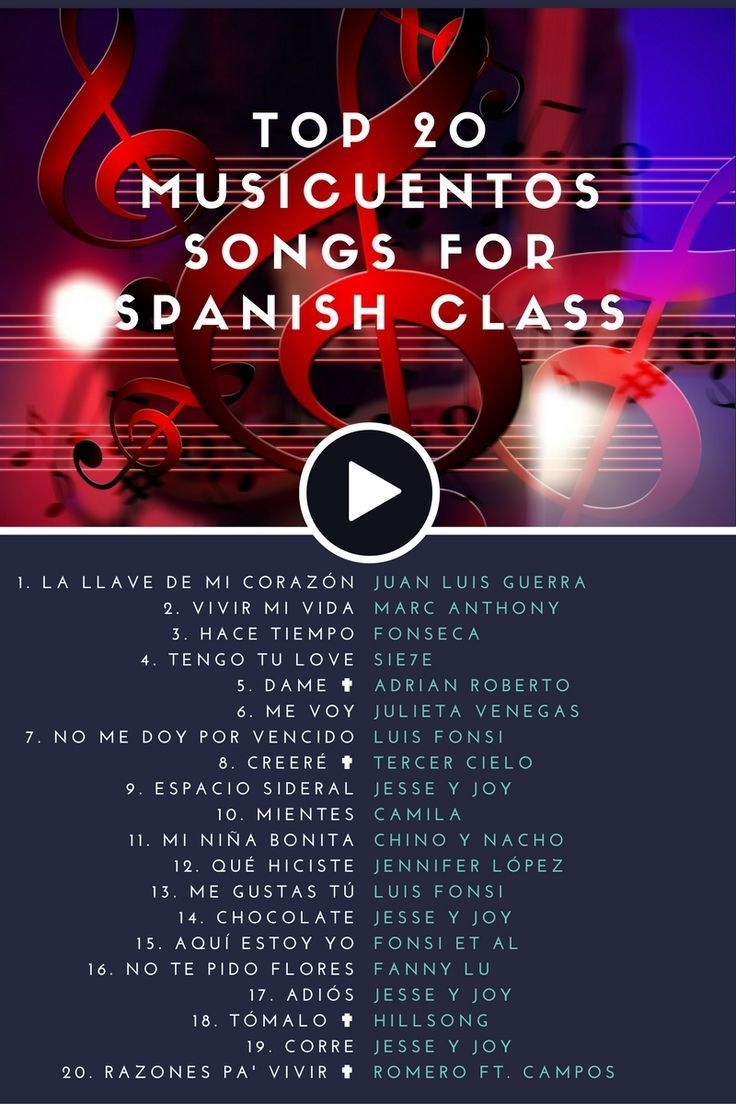 top musicuentos songs for spanish class