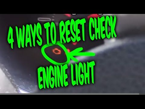 HOW TO RESET CHECK ENGINE LIGHT CODES, 4 FREE EASY WAYS !!! - YouTube