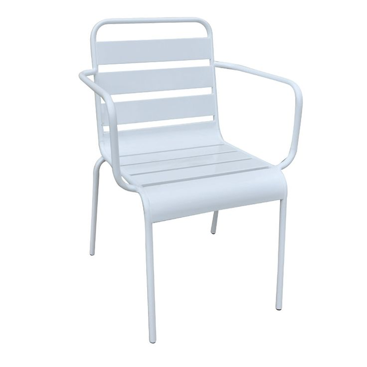 Comfort garden armchair steel white