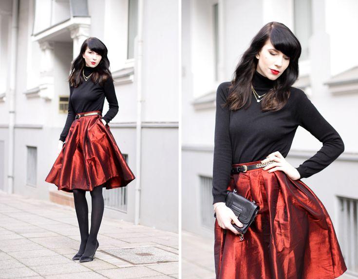 red skirt christmas outfit weihnachtsoutfit mädchen fashion mode modeblog fashionblogger pretty schwarz elegant hannover berlin ricarda schernus blog 6