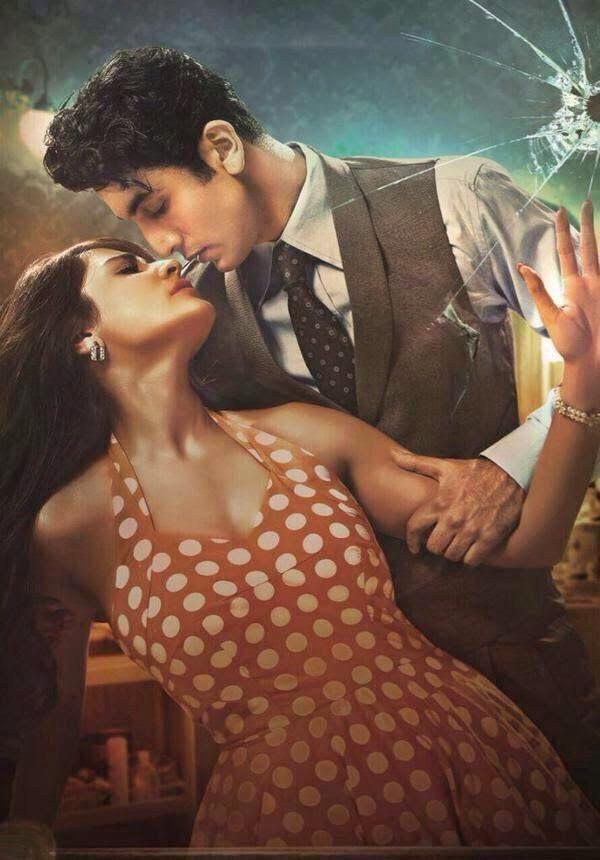 Bombay Velvet poster starring Ranbir Kapoor and Anushka Sharma