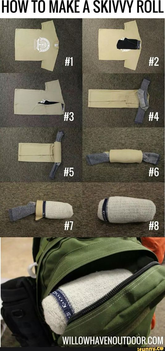 How to make a perfect roll for fitting lots of things in suitcases or for camping without then getting completely wrinkled!    #packing #camping #clothes