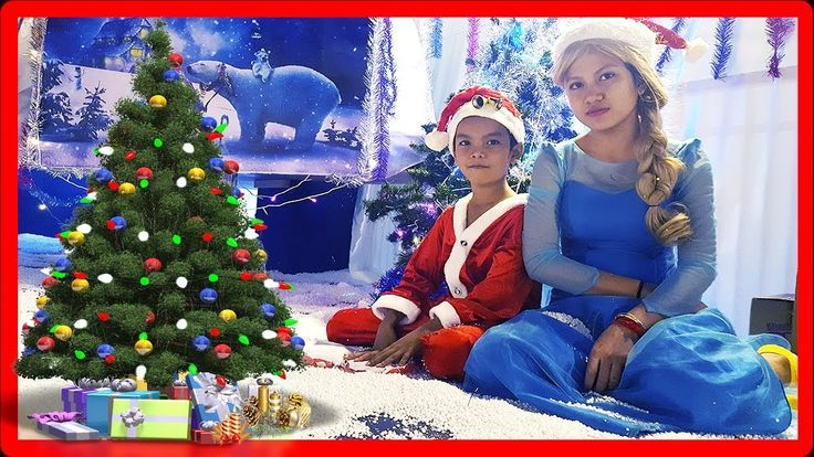 Santa & Elsa Playing in Christmas House | Indoor Playground For Kids | J...